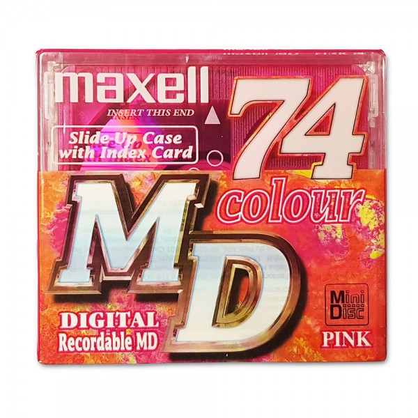 Maxell MiniDisc 74 Colour Digital Recordable MD PINK