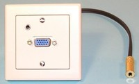 WS W Einbaukombination UP-VGA, 3.5mm Stereo Klinke