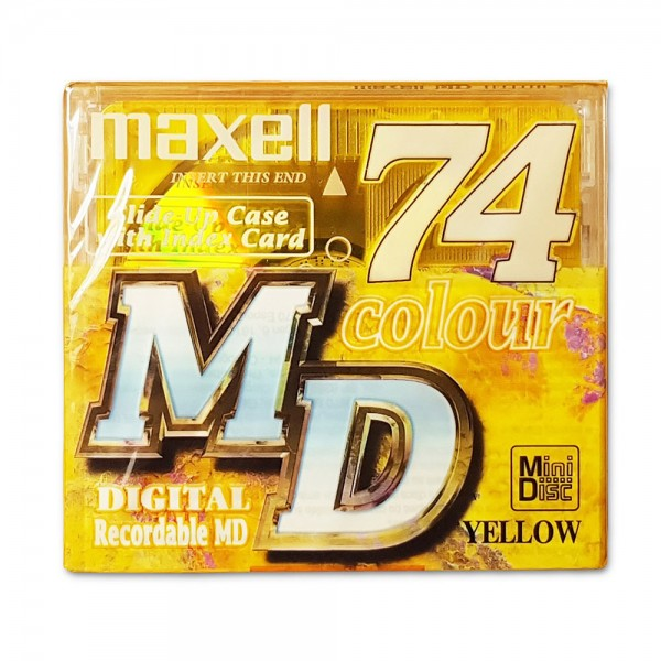 Maxell MiniDisc 74 Colour Digital Recordable MD YELLOW