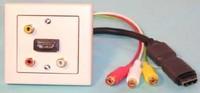 WS W Einbaukombination UP-HDMI, 3Cinch, 0.3m