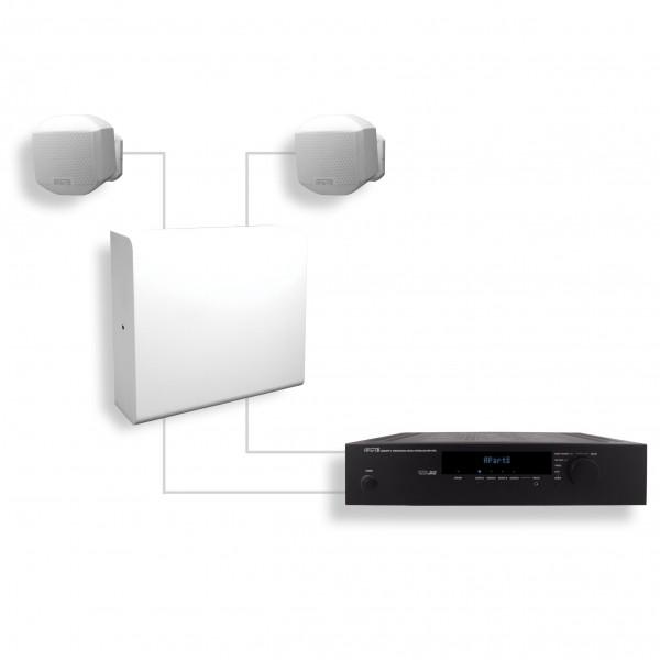 apart Ambiset weiß Lautsprecher-Komplettlösung
