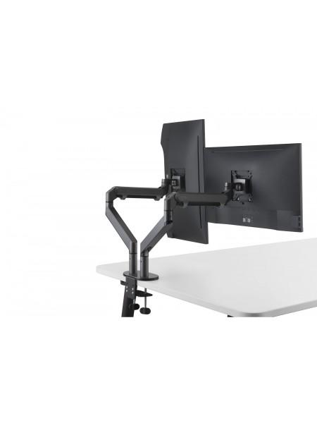ALBA MHARMFD N Double Monitor Arm SAMY Schwarz