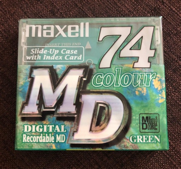 Maxell MiniDisc 74 Colour Digital Recordable MD Green