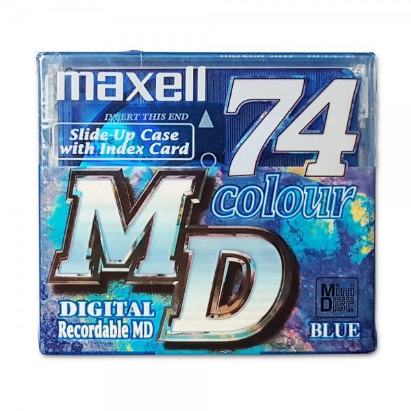 Maxell MiniDisc 74 Colour Digital Recordable MD BLUE