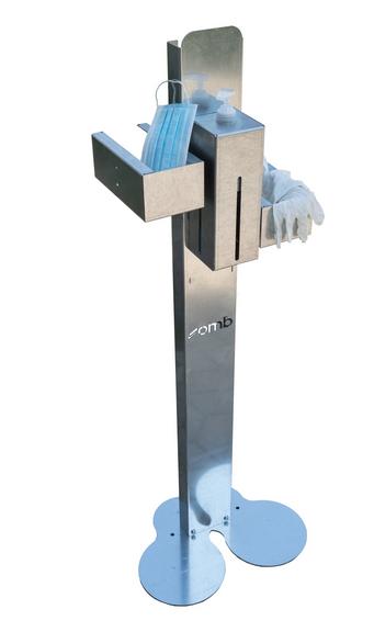 mobiler Ständer 117cm Edelstahl hellgrau