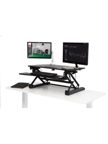 "ALBA Work station ""Sit-to-stand"" MHSTANDL N Schwarz"