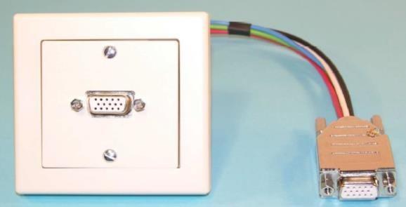 WS W Einbaukombination UP-VGA, Alu