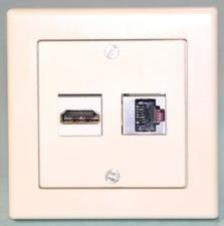 WS W Einbaukombination UP-HDMI, CAT6